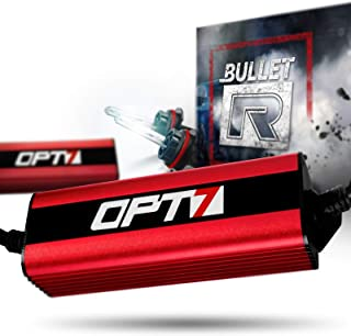 OPT7 Bullet-R 9004 Bi-Xenon HID Kit - 3X Brighter - 4X Longer Life - All Bulb Sizes and Colors - 2 Yr Warranty [5000K Bright White Light]