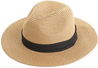 LPKH Sun Hat Foldable Large Eaves Hiking Fishing Straw Hat Beach Hat hat (Color : Khaki)
