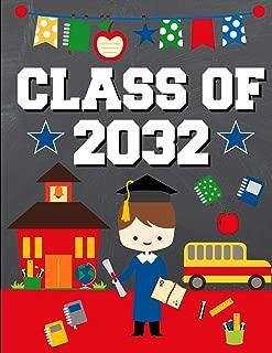 Class of 2032: Back To School or Graduation Gift Ideas for 2019 - 2020 Kindergarten Students :  Notebook | Journal | Diary - Brunette Brown Hair Boy Kindergartener Edition
