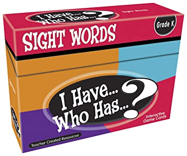 Teacher Created Resources I Have. Who Has.? Sight Words Grade K (7868), Multicolor