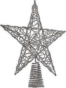 Kurt Adler 10-Inch Silver Star Treetop