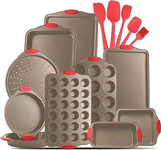 JoyTable Bakeware Set - 15 PC Baking Pans Set Nonstick Surface - Bakeware sets with Baking Pan, Oven Pan, Cookie Sheet, Ba...