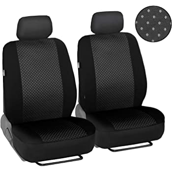 Truck,Minivan All Weather Men Seat Covers Airbag Compatible Car Seat Cover 2 pcs Front Seat Covers for Sedan SUV