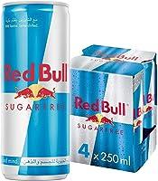 Red Bull Energy Drink, Sugar Free, 250 ml (4 pack)