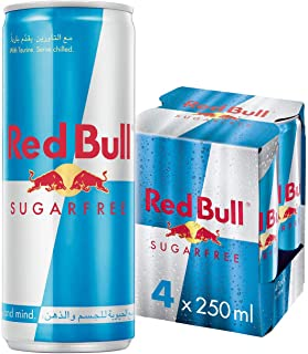 Red Bull Sugar Free Energy Drink - 250 ml (Pack of 4)
