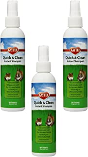 (3 Pack) Kaytee Quick and Clean Critter Dry Shampoo, 8-Ounce