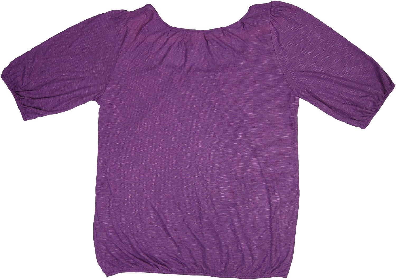 Olivia Moon Women's Crew Neck Blouse (Size M, color purple)
