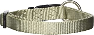 Hamilton 5/8-Inch Adjustable Dog Collar, Small, Fits 12-Inch by 18-Inch with Brushed Hardware Ring, Sage