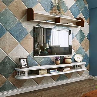 XUQIANG Estante de pared dormitorio de madera maciza decodificador estante sala de estar mueble de TV TV consola de TV Caja de almacenamiento de DVD Fondo de TV decoración de pared de fondo Plataforma