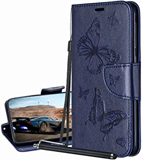 Laybomo Carcasa para Nokia 5.3 Tapa Funda Cuero Estilo-Mariposa Monederos Billetera Bolsa Magnética Protector Silicona Sua...