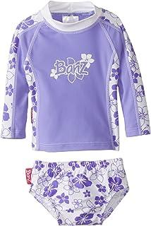 Baby Banz Baby Girls' Long Sleeve Rash Guard and Swim Diaper