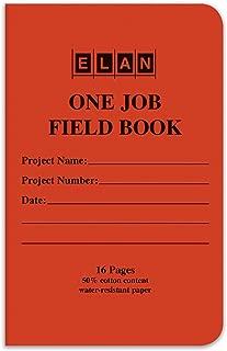 Elan Publishing Company One-Job Saddled Stiched Field Surveying Book 4 ⅝ x 7 Orange Stiff Cover (Pack of 6)