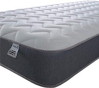Starlight sängar – enkel madrass. 7,5 tum djup fjädring enkamminne skum madrass med en zigzag-design cool pekpanel och grå...