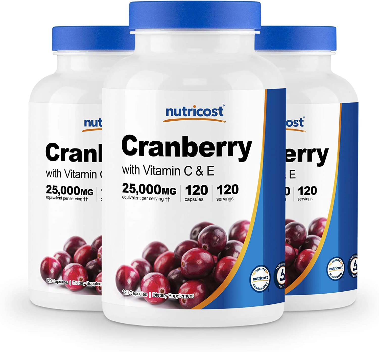 Nutricost Cranberry Extract 25 000mg 120 3 wi Bottles Financial sales sale Cheap SALE Start Servings