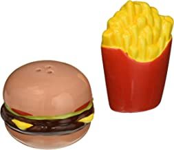 """Abbott Collection Burger & Fries Salt & Pepper-3""""H, 3"""" High, Burger and Fries"""