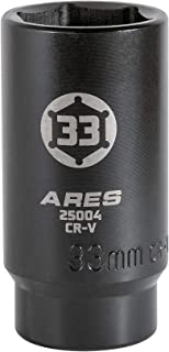 ARES 25004-1/2-Inch Drive 6 Point Axle Nut Socket (33MM) - Extra Deep Impact Socket for Easy Removal of Axle Shaft Nuts