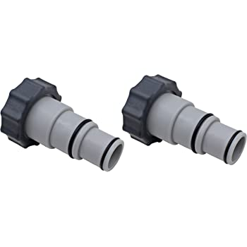 State Warehouse Replacement Hose Adapter w/Collar Replace for Intex Fit for Threaded Connection Pumps (Pair)