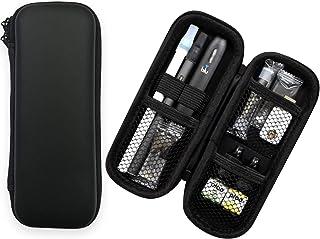 myblu マイブルー プルームテック ケース ロングタイプ スリム コンパクト ケース 大容量 マウスピースを装着したまま3本収納 VAPE等使用可 PUレザー (ブラック) Ploo+