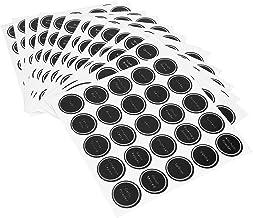 Kruidkruik, 13-delige herbruikbare pantry-labelset vinyl 1,5 inch schoolbord ronde waterdichte stickers om te organiseren ...