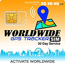 GPS Tracker Worldwide SIM Card - Compatible with 2G 3G 4G Tracking Devices Locators - Coverage in 200 Countries