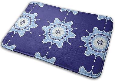 Winter Snowflakes Abstract Carpet Non-Slip Welcome Front Doormat Entryway Carpet Washable Outdoor Indoor Mat Room Rug 15.7 X