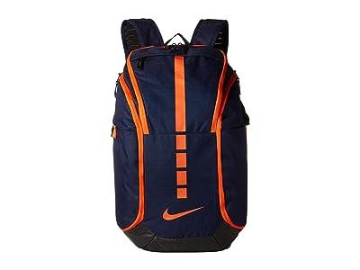 Nike Hoops Elite Pro Backpack (Blackened Blue/Black/Team Orange) Backpack Bags