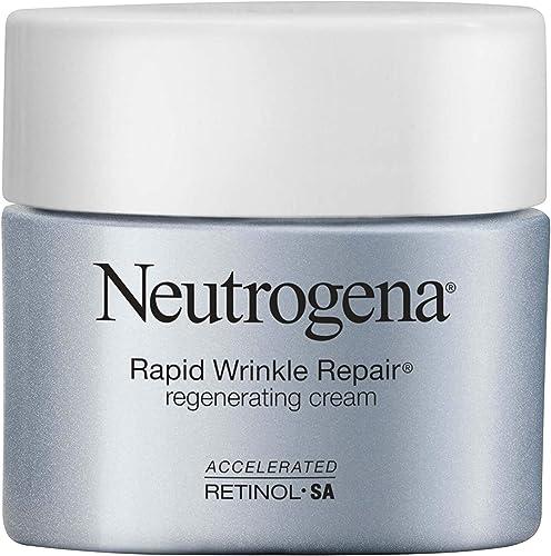 Neutrogena Rapid Wrinkle Repair Retinol Regenerating Anti-Aging Face Cream & Hyaluronic Acid; Anti-Wrinkle Retinol Mo...