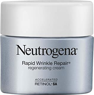 Neutrogena Rapid Wrinkle Repair Retinol Regenerating Anti-Aging Face Cream & Hyaluronic Acid; Anti-Wrinkle Retinol Moistur...