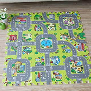 Q Baby Play Mat, 9 Pieces Baby EVA Foam Puzzle Mat Play Mat Baby, Toddler Activities Play Mat For Baby for Bedroom Living ...