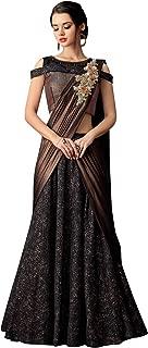 DesiButik's Wedding Wear Gorgeous Black And Copper Fancy Jacquard Lehenga Choli with Dupatta
