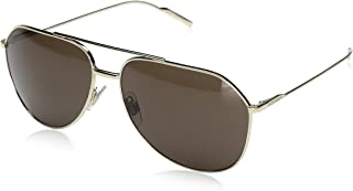 Men's Metal Man Aviator Sunglasses, Pale Gold, 61 mm