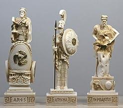 Greek Roman Gods HEPHAESTUS & ARES & Goddess ΑΤΗΕΝΑ Statue Sculpture Figure Set