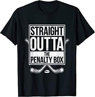 straight outta the penalty box hockey player jersey shirt