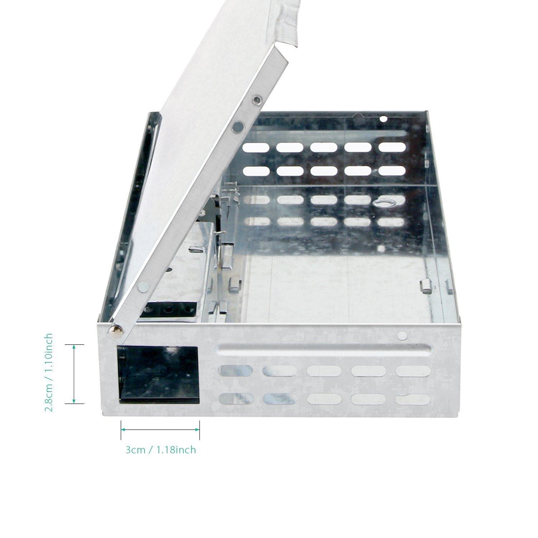 HUX EYE Trampa para ratones, captura múltiple, humano Trampa para ratón, Metálico_MAF5003: Amazon.es: Jardín