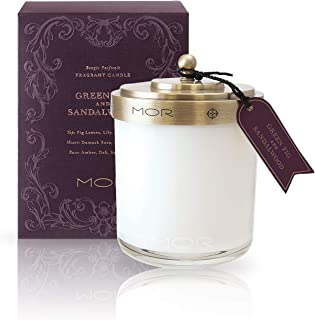 MOR Boutique Scented Home Library Green Fig and Sandalwood Fragrant Candle, 380 ml