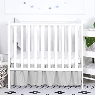 Dot in Grey Wendy Bellissimo Dust Ruffle Baby Crib Skirt from The Hudson Collection White