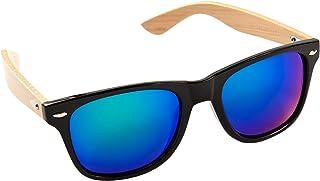9fc2ad56bb ECENCE Gafas de Sol de Madera de bambú Mujer Hombre Unisex Gafas Retro en  Tendencia Negro