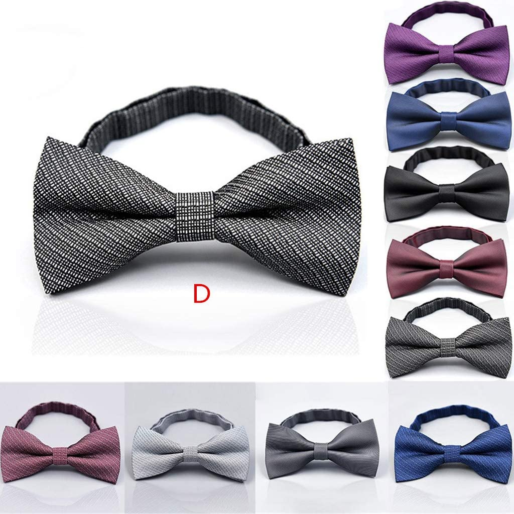 Mens Bow Tie, Neck Clip-on Tie, 9 Colors to Choose for Wedding And Event, Adjustable