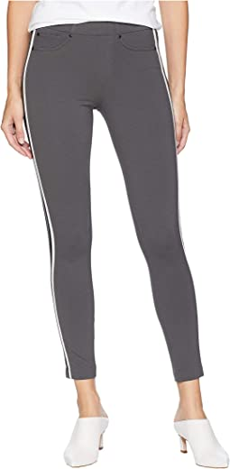 Chloe Ankle Leggings Double Stripe in Super Stretch Ponte Knit
