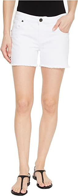 Gidget Fray Shorts in Optic White
