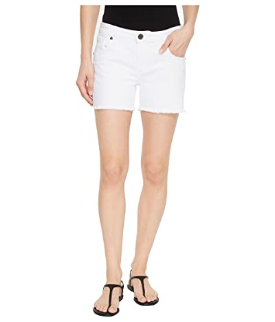 KUT from the Kloth Gidget Fray Shorts in Optic White (Optic White) Women