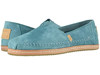 TOMS Alpargata Leather Wrap (TOMS Sky Pig Suede Leather Wrap) Women