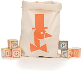 Uncle Goose Classic ABC Blocks with Canvas Bag - Made in USA