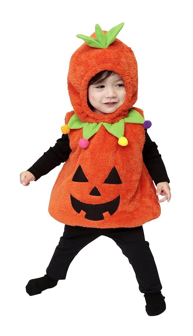 ステレオ可決ガスマシュマロパンプキン パンプキン かぼちゃ コスプレ ベビー 80cm オレンジ
