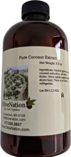 OliveNation Pure Coconut Extract - 8 ounces - Gluten free, Sugar free also bake and freeze-proof - baking-extracts-and-fla...