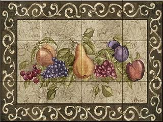 Ceramic Tile Mural - Traditional Fruit I- by Paul Brent - Kitchen backsplash/Bathroom Shower