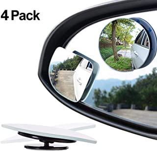 Yukiko 1 Pair Car Blind Spot Mirrors Wide Angle Adjustable Stick-on Rear View Mirrors