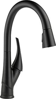Delta Faucet Esque Single-Handle Touch Kitchen Sink Faucet with Pull Down Sprayer, Touch2O and ShieldSpray Technology, Magnetic Docking Spray Head, Matte Black 9181T-BL-DST