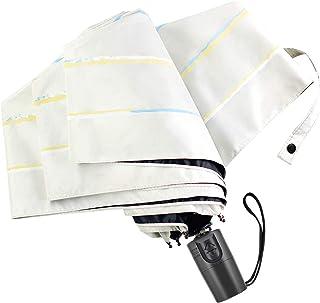 【日本特許A•S•C 安全ストッパー式傘】WEISHY 日傘 折りたたみ傘 レディース ワンタッチ 自動開閉 UV カット 100 遮光 軽量 280g 晴雨兼用 紫外線遮蔽率99% 耐風撥水 6本骨 AU6-T01 (オフホワイト)