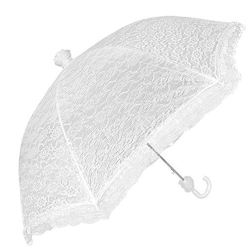 ed25c60999078 White Bridal Umbrella- Wedding Umbrella Ideal for rain or Shine – Perletti  lace Bridal Umbrella